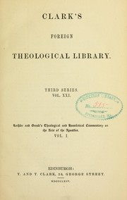 Cover of: Theological and homiletical commentary on the Acts of the apostles
