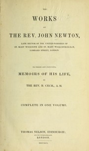 Cover of: The works of the Rev. John Newton ...