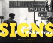 Cover of: Signs (Photographs by Walker Evans)