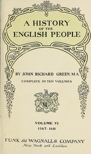 Cover of: A history of the English people | John Richard Green