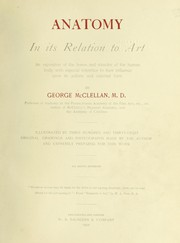 Cover of: Anatomy in its relation to art