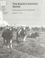 Cover of: The Soviet livestock sector | Edward Cook (undifferentiated)