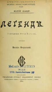 Cover of: Li Łegendy
