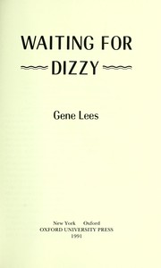 Cover of: Waiting for Dizzy | Gene Lees