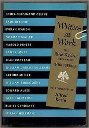 Cover of: Writers At Work, Third Series | Alfred Kazin;  Introduction