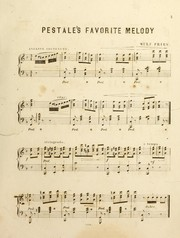Cover of: Pestal's favorite melody
