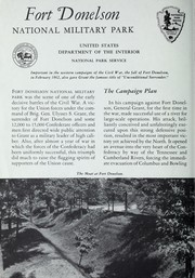 Cover of: Fort Donelson National Military Park, Tennessee | United States. National Park Service