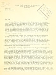 Cover of: [Form letter in regard to Notice of quarantine no. 63] | United States. Bureau of Plant Industry