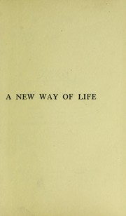 Cover of: A new way of life