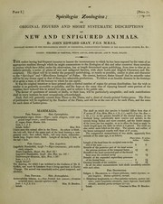 Cover of: Spicilegia zoologica; or, original figures and short systematic descriptions of new and unfigured animals