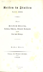 Cover of: Reisen in Italien seit 1822