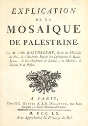 Cover of: Explication de la mosaïque de Palestrine