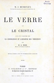 Cover of: Le verre et le cristal
