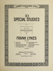 Cover of: Ten special studies for the pianoforte | Frank Lynes