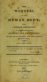 Cover of: The wonders of the human body