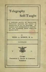 Cover of: Telegraphy self-taught | Theo Edison