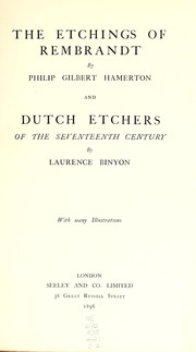 Cover of: The etchings of Rembrandt