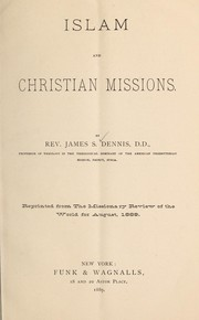 Cover of: Islam and Christian missions