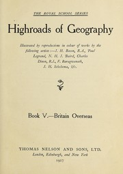 Cover of: Highroads of geography |
