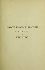 Cover of: A svrvay of London