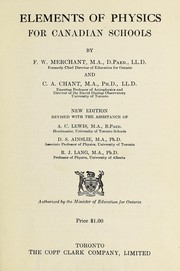 Cover of: Elements of physics for Canadian schools | F. W. Merchant