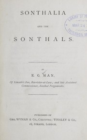 Cover of: Sonthalia and the sonthals | Edward Garnet Man
