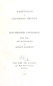 Cover of: Exhibition of Japanese prints