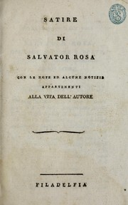Cover of: Satire di Salvator Rosa