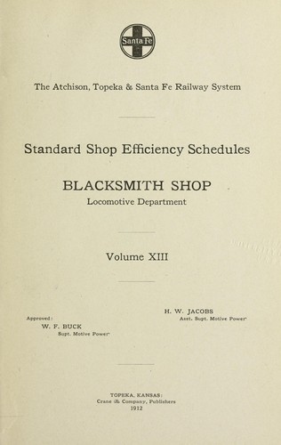 Standard shop efficiency schedules by Henry William Jacobs