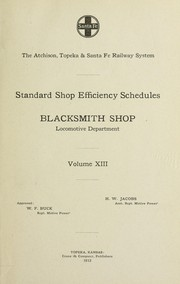 Cover of: Standard shop efficiency schedules | Henry William Jacobs