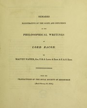 Cover of: Remarks illustrative of the scope and influence of the philosophical writings of Lord Baron