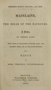 Cover of: Madelaine, the belle of the Faubourg