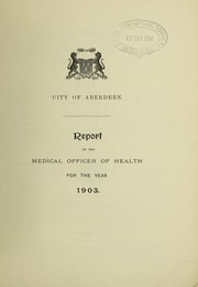 Cover of: [Report 1903] | Aberdeen (Scotland). City Council