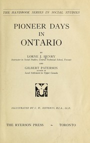 Pioneer days in Ontario