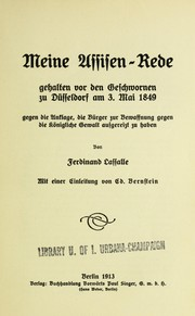 Cover of: Meine Assisen-Rede
