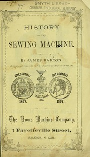 Cover of: History of the sewing machine
