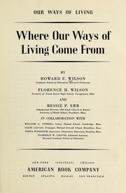Cover of: Our ways of living