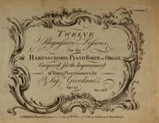 Cover of: Twelve progressive lessons for the harpsichord, pianoforte or organ, op. 25