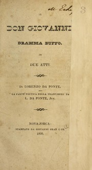 Cover of: Il Don Giovanni