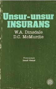 Cover of: Elements of insurance by W       A Dinsdale, D.C. McMurdie