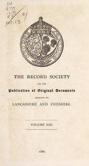 Cover of: A list of the Lancashire wills proved within the archdeaconry of Richmond, and now preserved in Somerset House, London | Church of England. Archdeaconry of Richmond