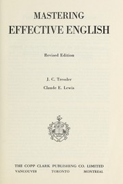 Cover of: Mastering effective English | J. C. Tressler