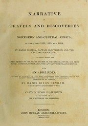 Cover of: Narratives of travels and discoveries in Northern and Central Africa, in the years 1822, 1823, and 1824