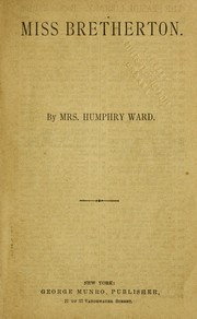 Cover of: Miss Bretherton | Mrs. Humphry Ward