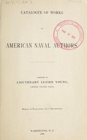 Cover of: Catalogue of works by American naval authors