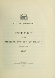 Cover of: [Report 1948] | Aberdeen (Scotland). City Council