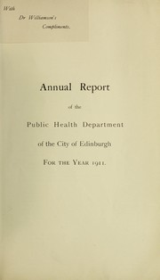 Cover of: [Report 1911]