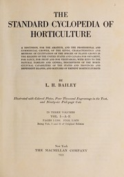 Cover of: The standard cyclopedia of horticulture