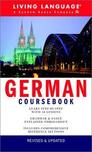 Cover of: German Coursebook | Living Language