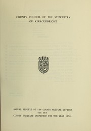 Cover of: [Report 1958] | Kirkcudbright (Scotland). Burgh Council
